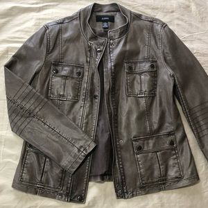 Alfani Faux Leather Jacket